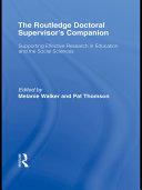 The Routledge Doctoral Supervisor's Companion