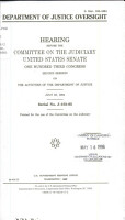 Department of Justice Oversight PDF