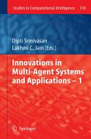 Innovations in Multi Agent Systems and Application     1 PDF