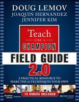 Teach Like a Champion Field Guide 2 0 PDF