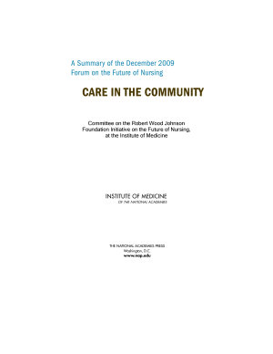 A Summary of the December 2009 Forum on the Future of Nursing