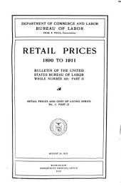 Retail prices and cost of living series: Issues 1-4