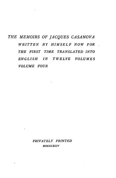 Download The Memoirs of Jacques Casanova Book
