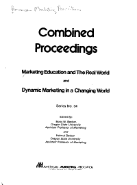 Marketing Education and the Real World and Dynamic Marketing in a Changing World PDF