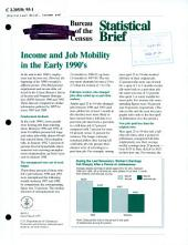 Income and job mobility in the early 1990's
