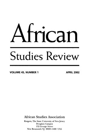 African Studies Review PDF