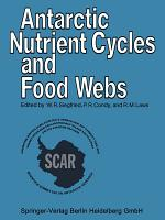 Antarctic Nutrient Cycles and Food Webs PDF