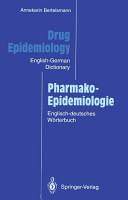 Drug Epidemiology   Pharmako Epidemiologie PDF