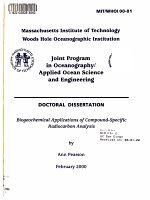 Biogeochemical Applications of Compound specific Radiocarbon Analysis PDF