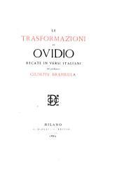 Le Trasformazioni di Ovidio, recate in versi Italiani, dal professore G. Brambilla. L.P.