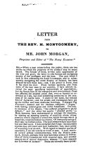 Letter from the Rev. H. Montgomery, to Mr. John Morgan, ...