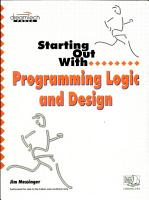 Starting Out With Programming Logic And Design PDF