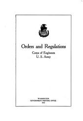 Orders and Regulations, Corps of Engineers, U.S. Army