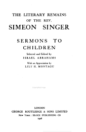 Sermons to children