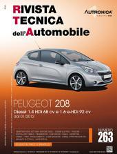 Manuale di riparazione Peugeot 208 - RTA263: 1.4 HDi (68cv) e 1.6 e-HDi (92cv)