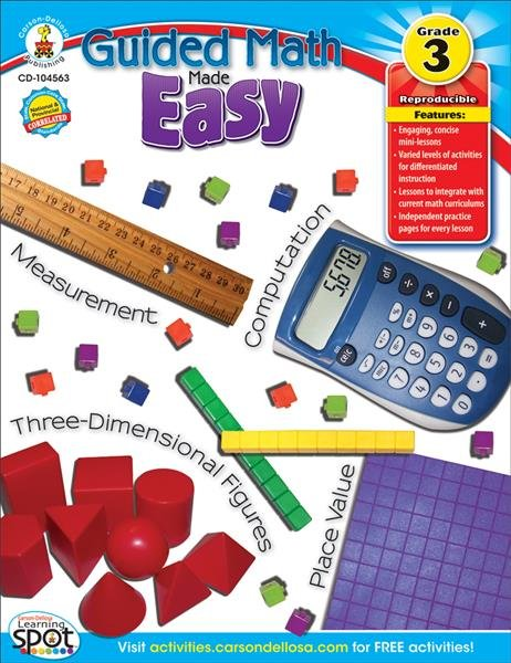 Guided Math Made Easy  Grade 3