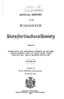 Annual Report of the Wisconsin State Horticultural Society PDF