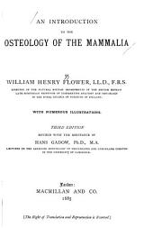 An Introduction to the Osteology of the Mammalia