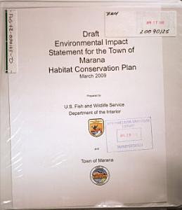 Town of Marana Habitat Conservation Plan
