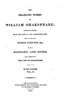 King Henry VI  pts  1 3  King Richard III  King Henry VIII  Troilus and Cressida  Timon of Athens  Coriolanus  Julius Caesar  Antony and Cleopatra  Cymbeline  Titus Andronicus  Pericles  King Lear  Romeo and Juliet  Hamlet  Othello PDF