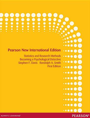 Introduction to Statistics and Research Methods  Pearson New International Edition PDF