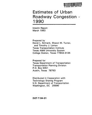 Estimates of Urban Roadway Congestion  1990 PDF