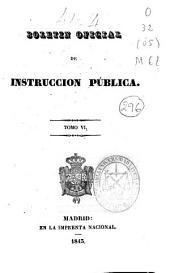 Boletín oficial de instrucción pública: Volumen 6