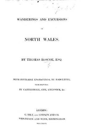 Wanderings and Excursions in North Wales  with 51 engravings  by Radclyffe  from drawings by Cattermole  Cox  etc PDF