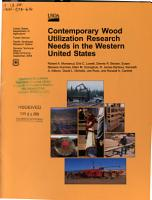 Contemporary Wood Utilization Research Needs in the Western United States PDF