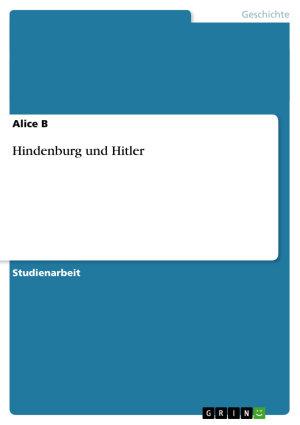 Hindenburg und Hitler PDF