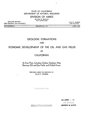 Geologic Formations and Economic Development of the Oil and Gas Fields of California PDF