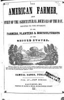 The American Farmer  and Spirit of the Agricultural Journals of the Day PDF