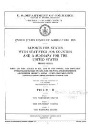 United States Census Of Agriculture  1935