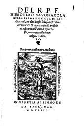 Nella prima Epistola di San Giovanni et altri luoghi della sacra scrittura sermoni XIX