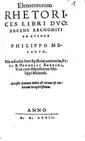 Elementorum Rhetorices libri duo