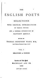 The English Poets: Volume 1
