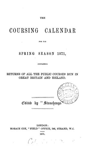 The Coursing calendar  ed  by  Stonehenge