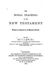 The Moral Teaching of the New Testament
