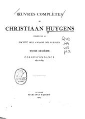 Oeuvres complètes de Christiaan Huygens: Volume10,Partie2
