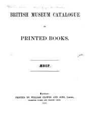 British Museum Catalogue of Printed Books: Aesop