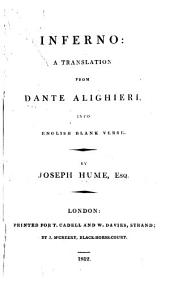 Inferno: A Translation from Dante Alighieri, Into English Blank Verse