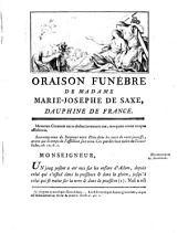 Oraison funébre de Marie-Joseph de Saxe, Dauphine de France