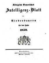 Königlich Bayerisches Intelligenzblatt von Niederbayern: 1852, [1]