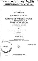 Airline Deregulation Act of 1978 PDF