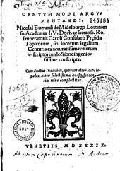 Nicolai Euerardi... Centum modi argumentandi