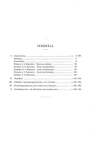 Upsala universitets fyrahundra  rs jubelfest september 1877