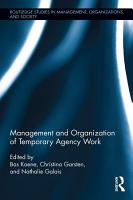 Management and Organization of Temporary Agency Work PDF