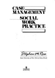 Case Management Social Work Practice Book PDF