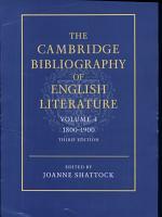 The Cambridge Bibliography of English Literature  Volume 4  1800 1900 PDF