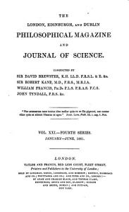 The London  Edinburgh and Dublin Philosophical Magazine and Journal of Science PDF
